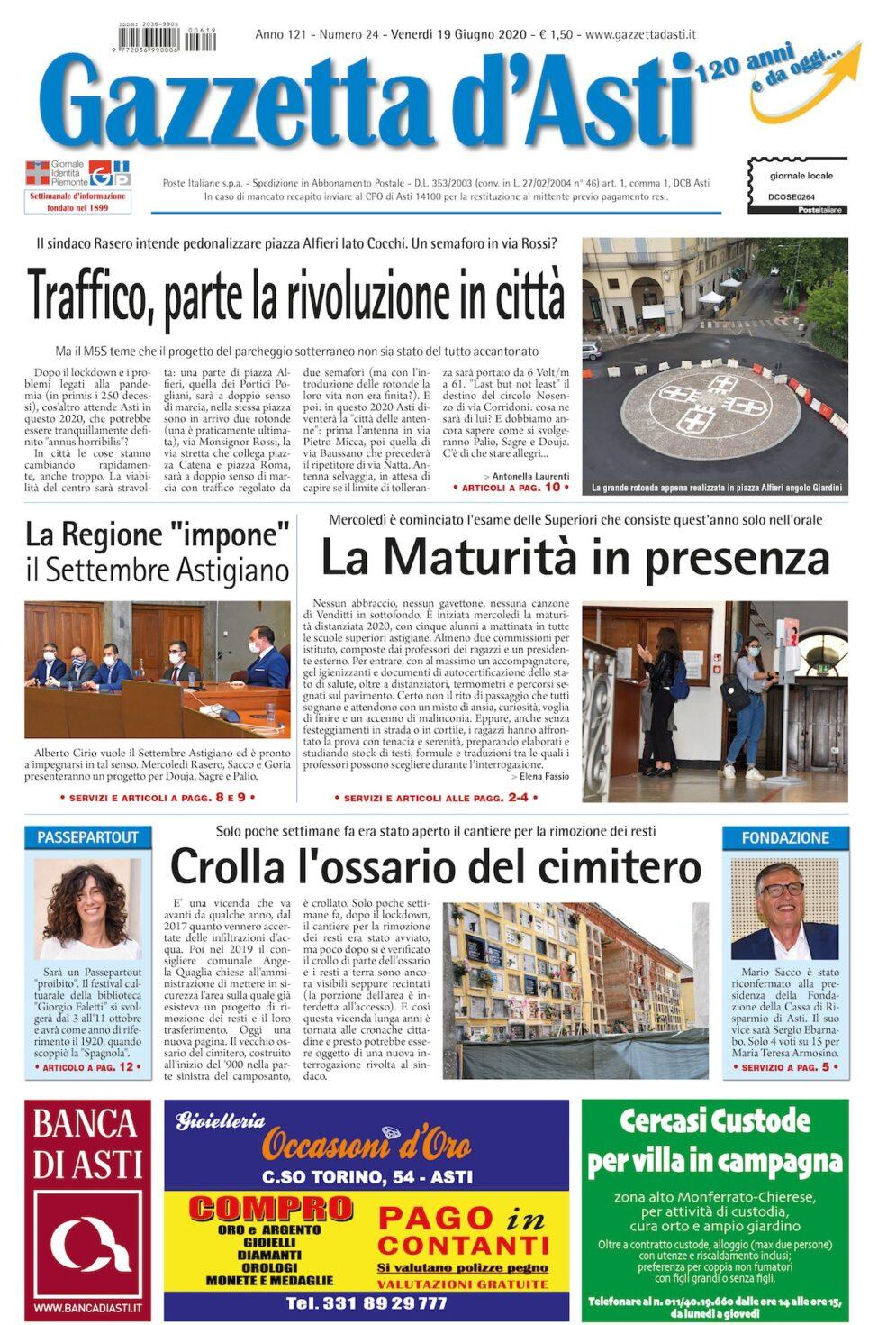Prima pagina – 19 giugno 2020