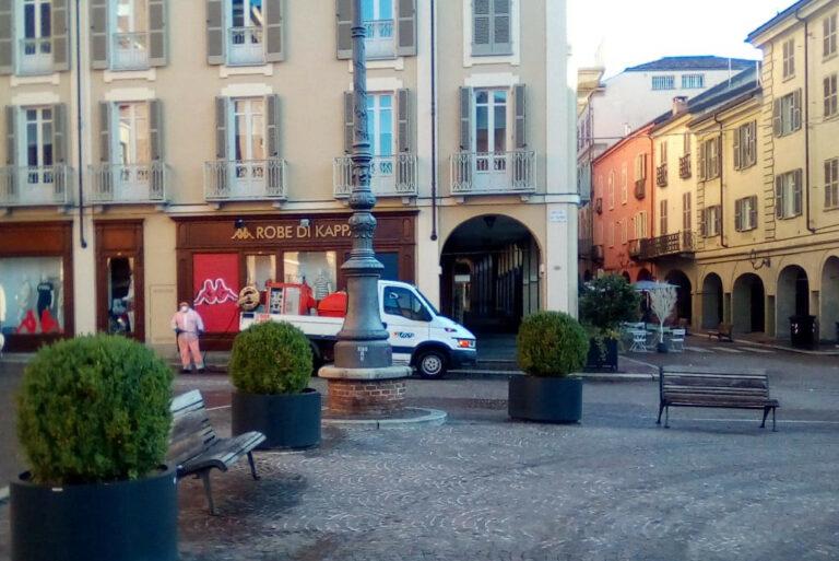 Asti: intervento di Asp per la pulizia straordinaria del centro cittadino