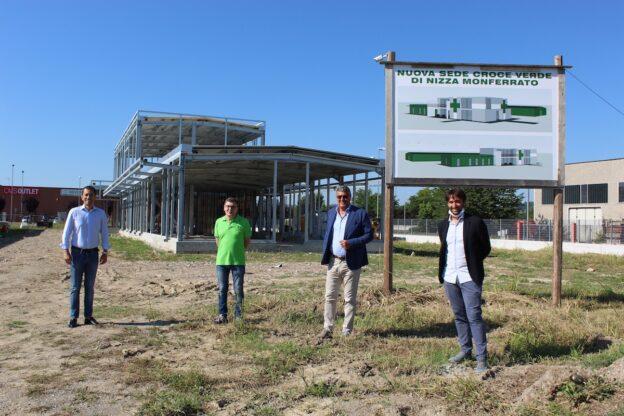 Nizza Monferrato, l'assessore Icardi in visita alla nuova sede della Croce Verde