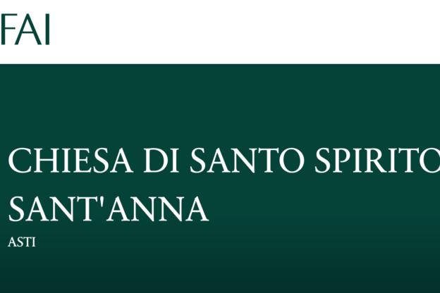 Asti, la chiesa di Santo Spirito e Sant'Anna candidata a Luogo del cuore FAI