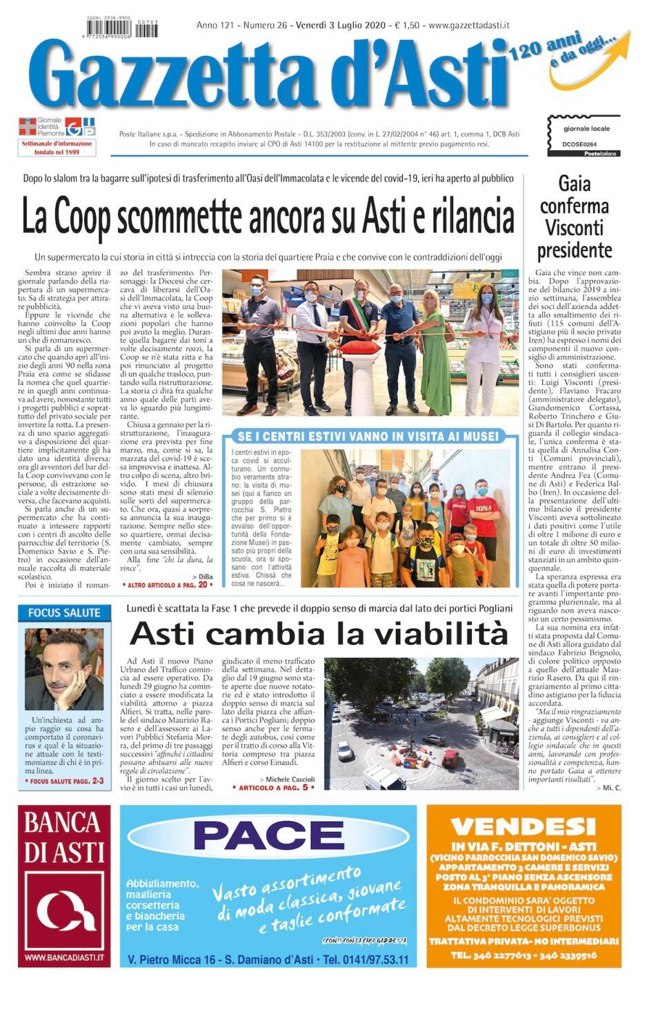 Prima pagina – 3 luglio 2020
