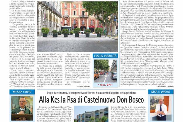 Prima pagina – 17 luglio 2020