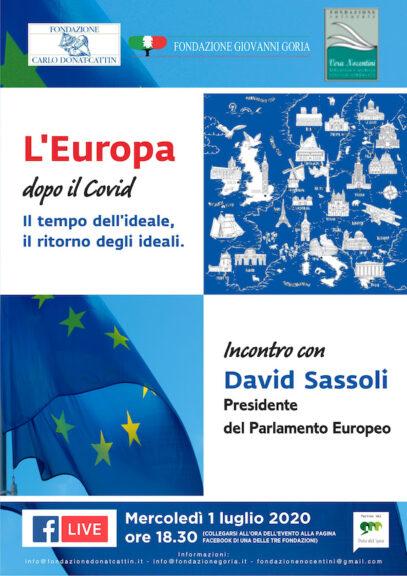 Fondazione Goria:  incontro con il presidente del Parlamento Europeo in diretta Facebook