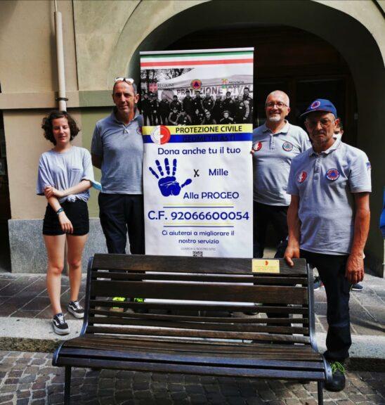 """Asti, anche l'associazione Progeo nel progetto """"Volontariato in panchina"""""""