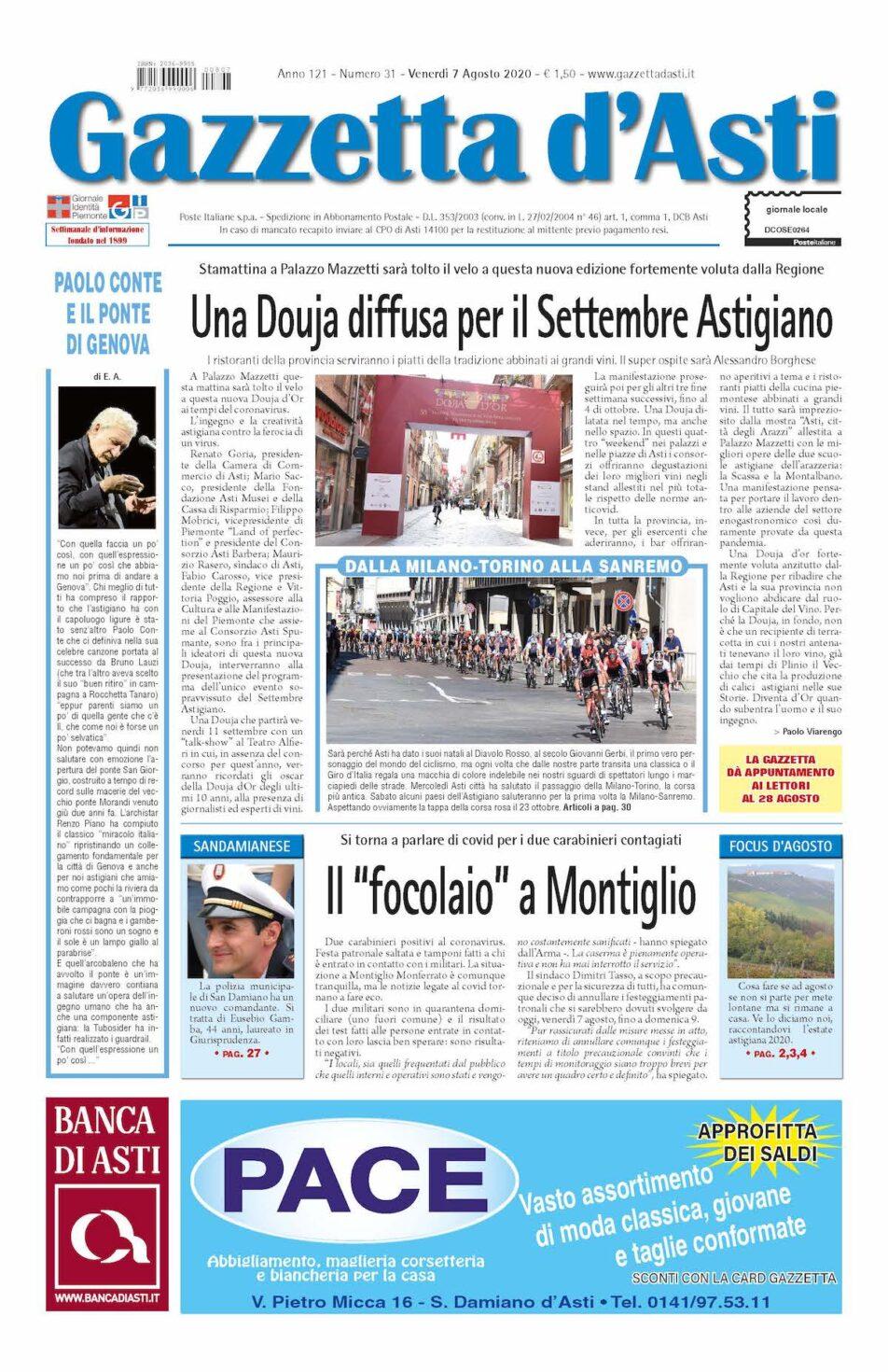 Prima pagina – 7 agosto 2020