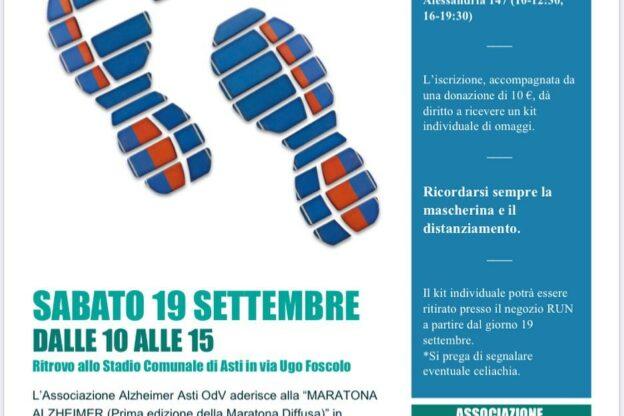 Anche ad Asti la Maratona Alzheimer