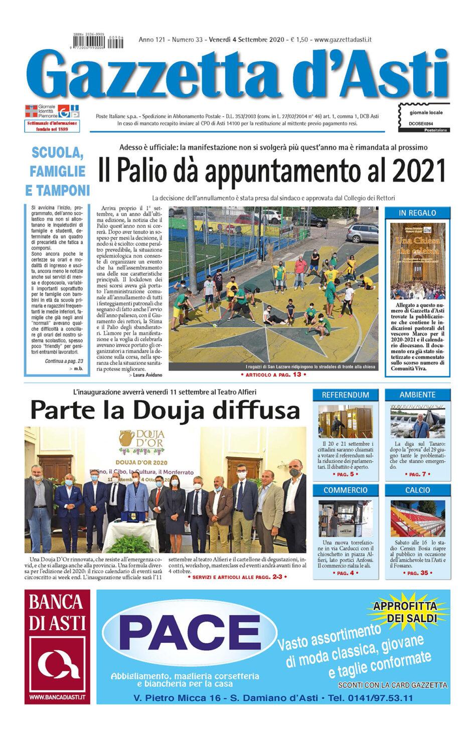 Prima pagina – 4 settembre 2020