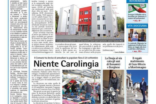 Prima pagina – 11 settembre 2020