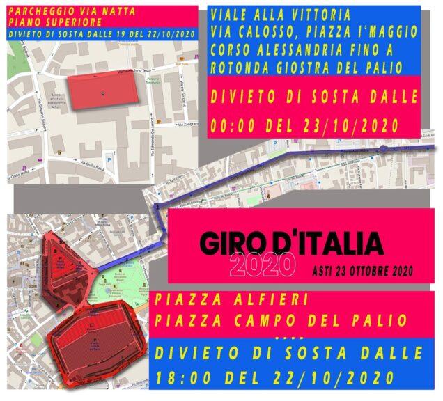 Asti, in arrivo il Giro d'Italia: ecco i divieti alla circolazione