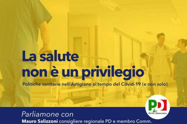 La salute non è un privilegio: il Pd astigiano ne discute con Mauro Salizzoni