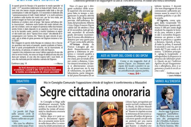 Prima pagina – 30 ottobre 2020