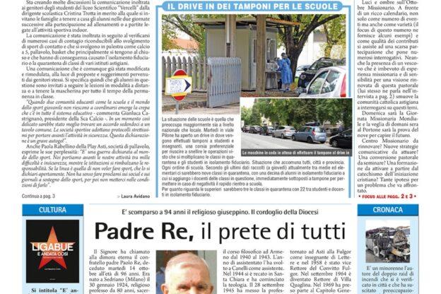 Prima pagina – 16 ottobre 2020