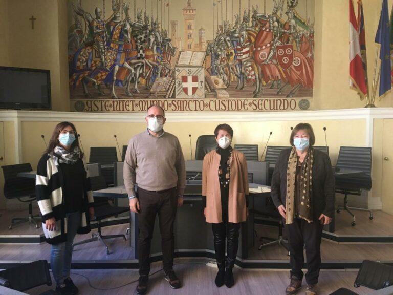 Asti, il sindaco incontra Giovanna Guercio, neo presidente del Soroptimist
