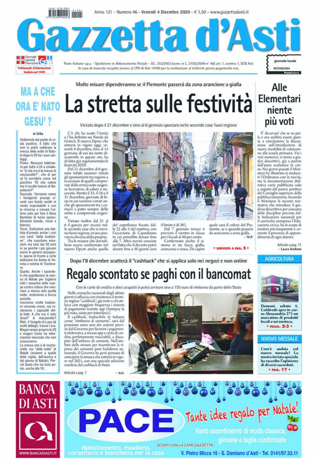 Prima pagina – 4 dicembre 2020