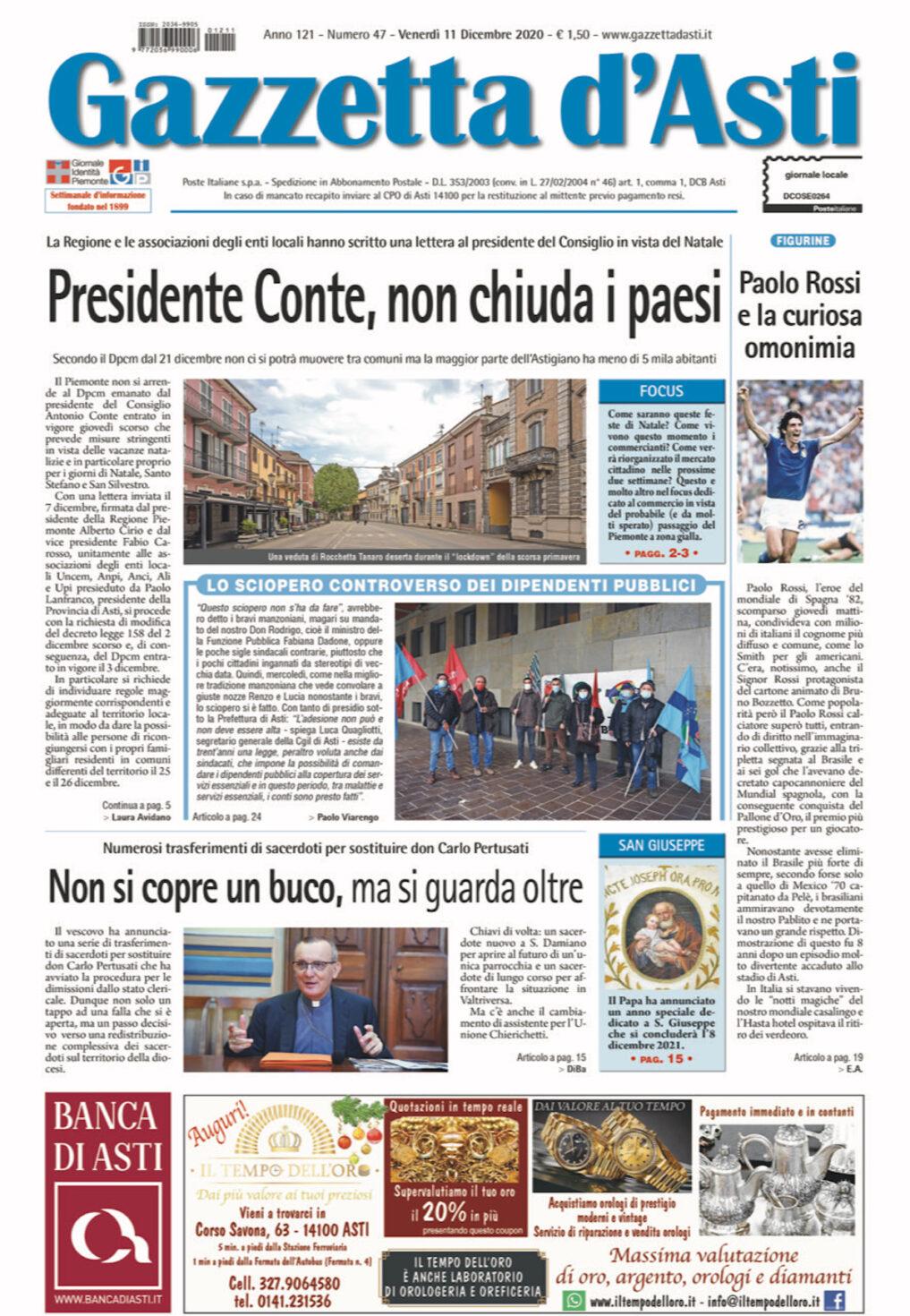 Prima pagina – 11 dicembre 2020