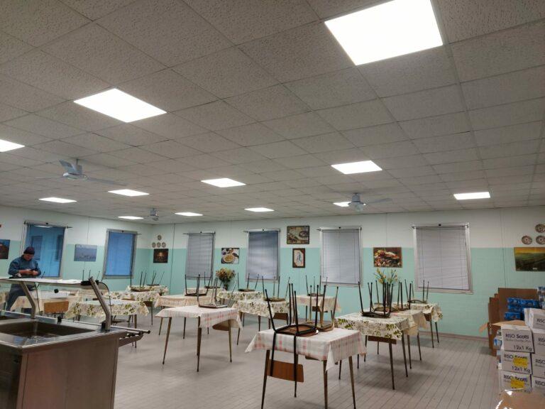 Asti, la mensa sociale ha nuove luci led