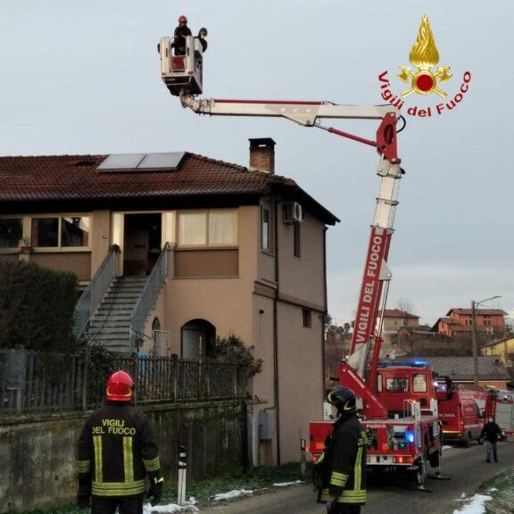 Incendio in un'abitazione di Vinchio