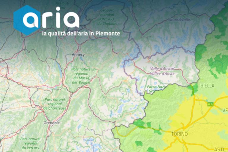 Nuovo sito sulla qualità dell'aria del Piemonte