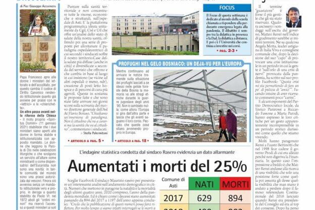Prima pagina – 15 gennaio 2021