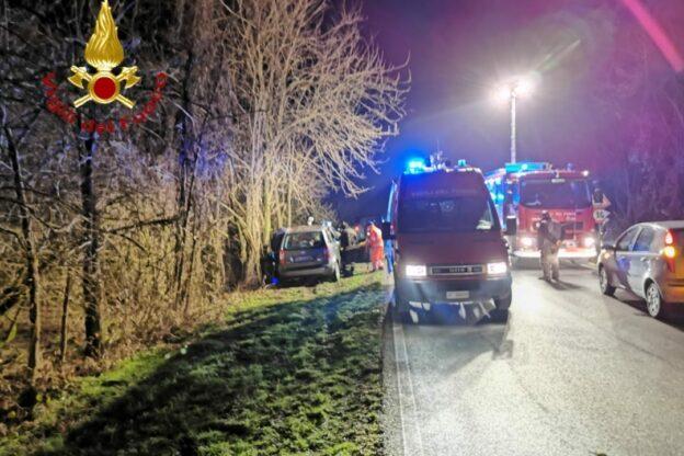 Incidente stradale sulla strada per Refrancore