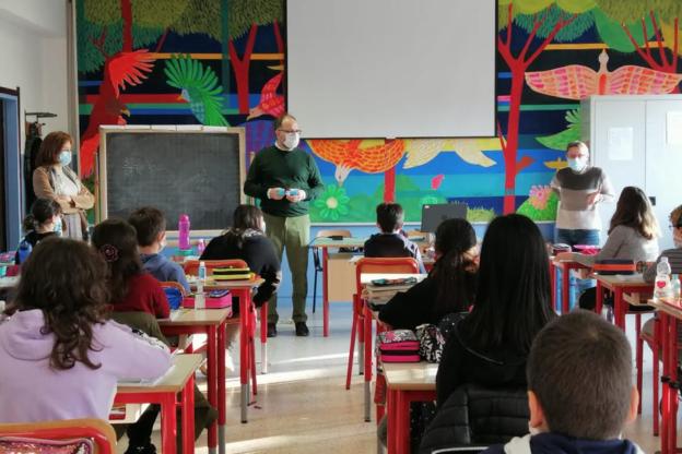 Asti, il sindaco in visita agli studenti della scuola Ferraris