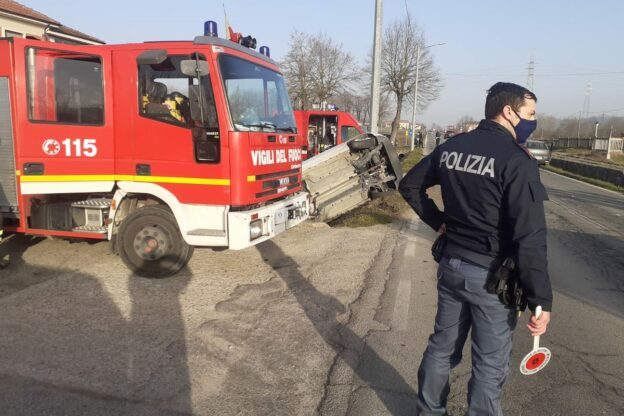 Asti, incidente in corso Ivrea