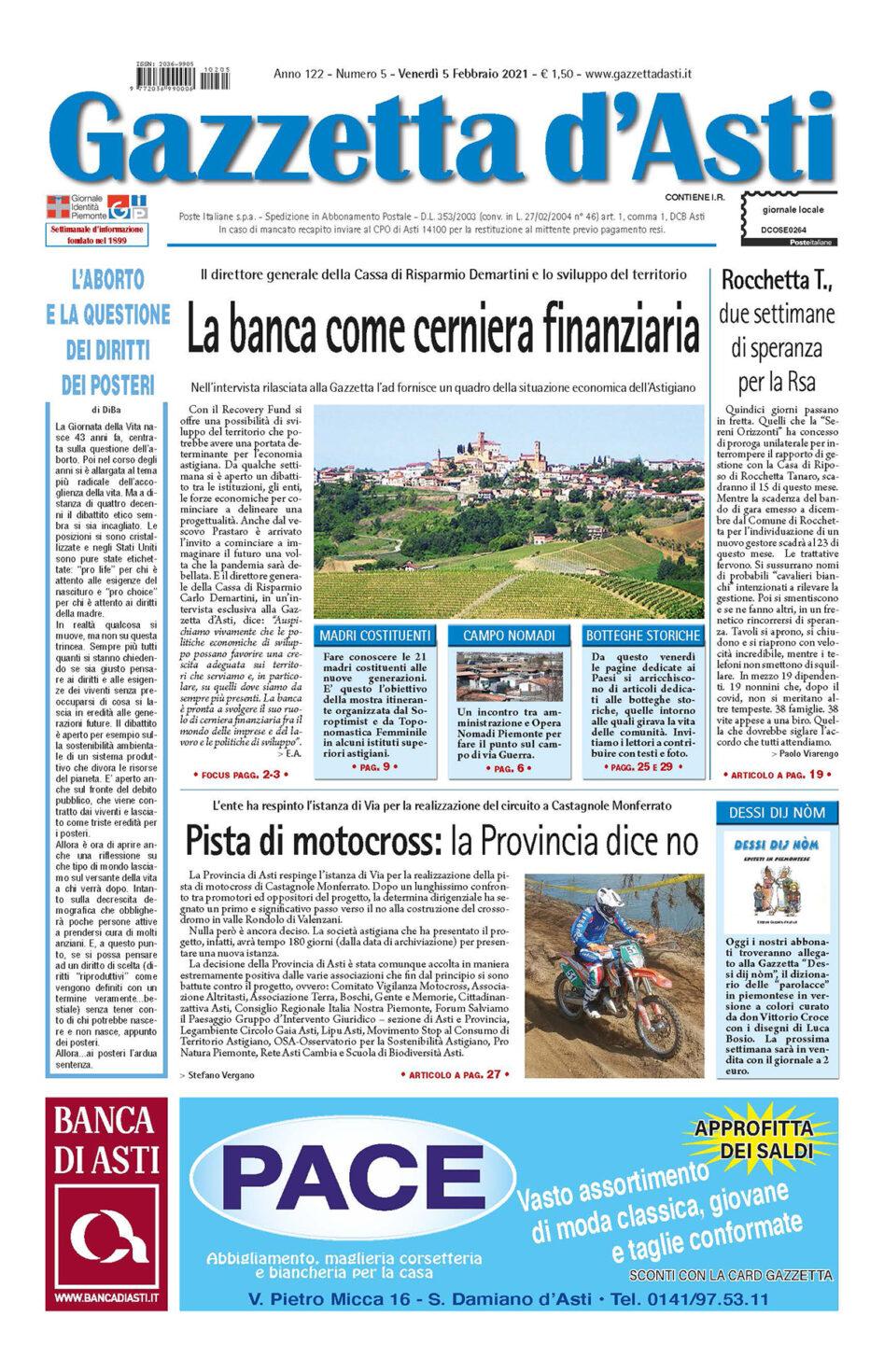 Prima pagina – 5 febbraio 2021