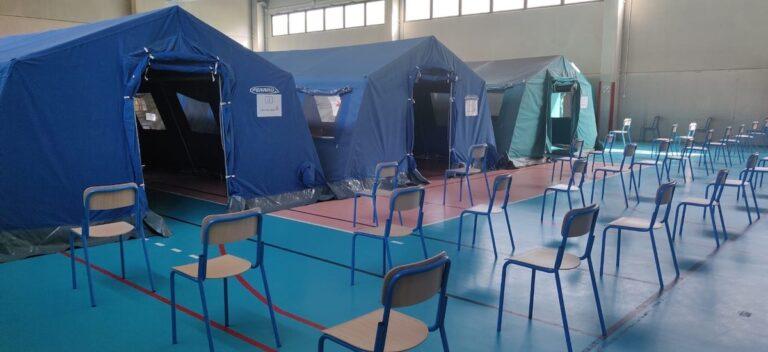 Canelli, tutto pronto per il nuovo punto vaccinale nella palestra della scuola primaria