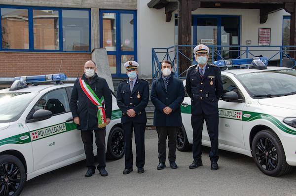 Due nuove auto alla Polizia Municipale di Asti