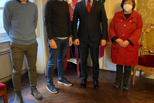 Maurizio Campia, CEO di Pharmercure, ricevuto a Palazzo Civico