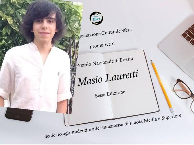 Viva la poesia: Matteo Angelo Lauria al premio Lauretti 2021