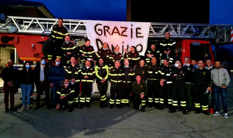Asti, ultimo turno di lavoro per il vigile del fuoco Danilo Guglielminetti