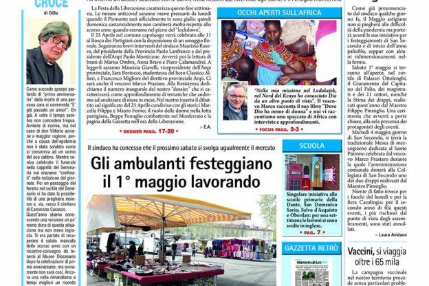 Prima pagina- 23 aprile 2021