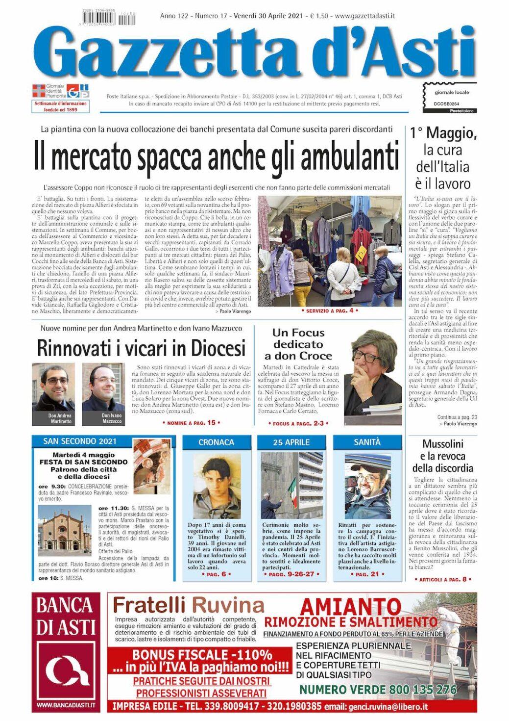 Prima pagina – 30 aprile 2021