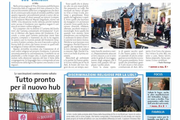 Prima pagina – 9 aprile 2021