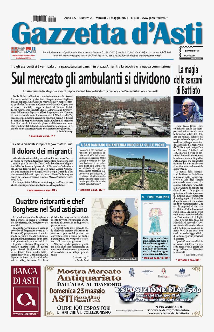 Prima pagina – 21 maggio 2021