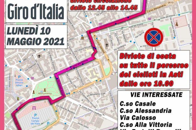 Il Giro d'Italia arriva nell'Astigiano: ecco il percorso delle due tappe della carovana rosa