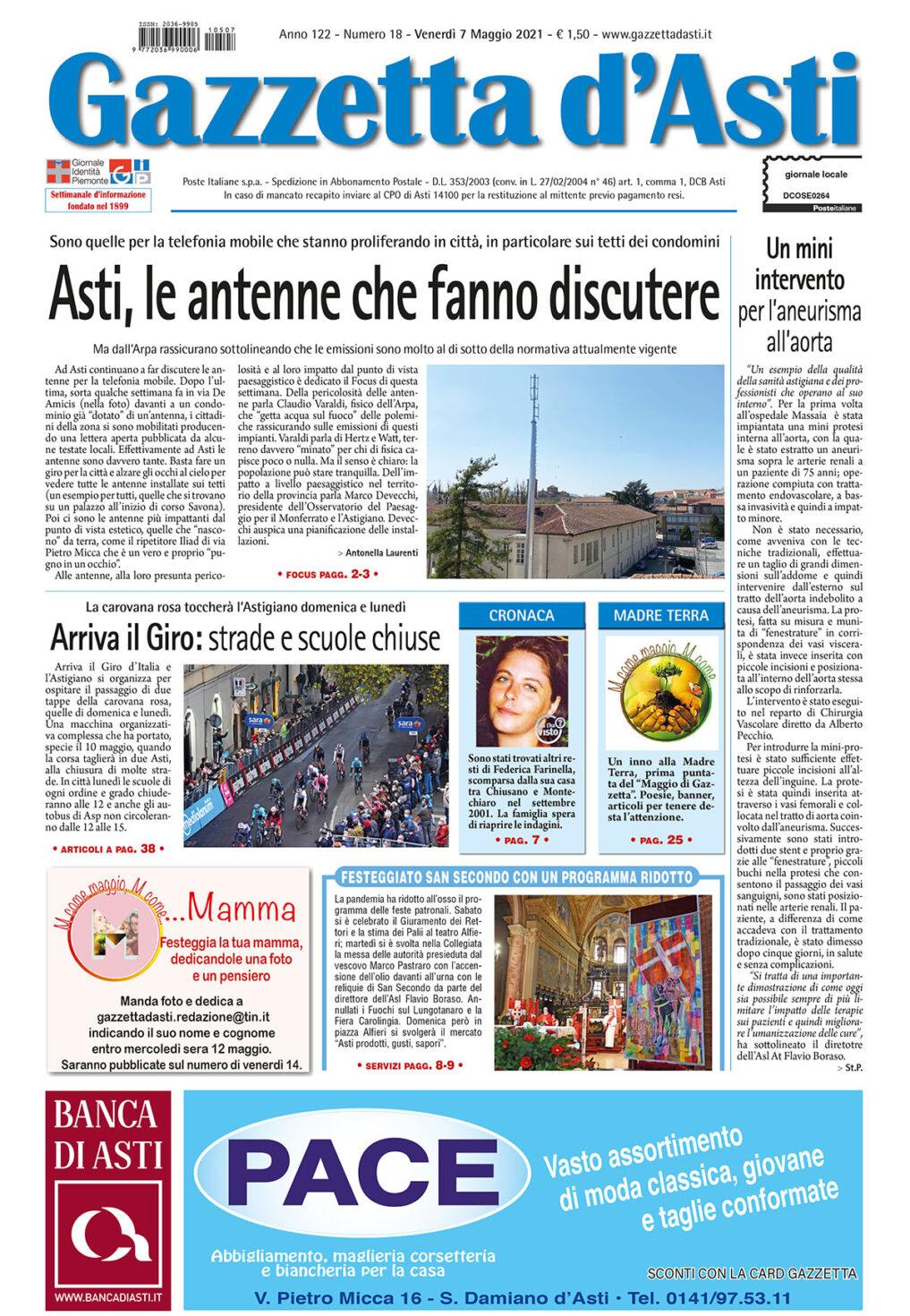 Prima pagina – 7 maggio 2021