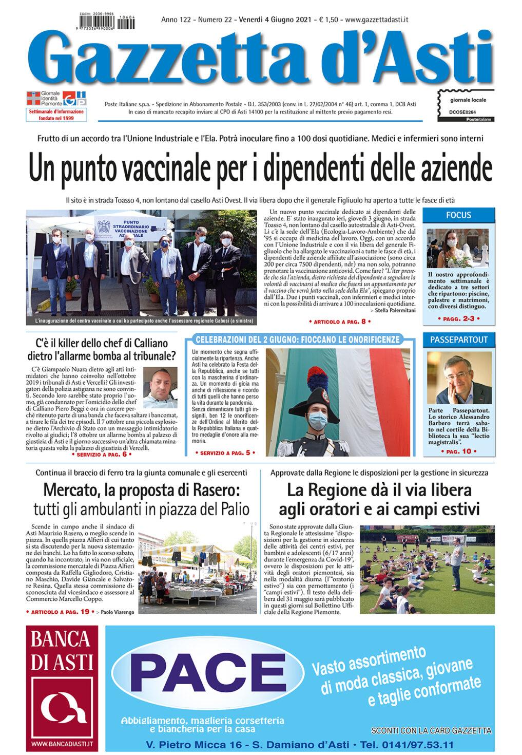 Prima pagina – 4 giugno 2021