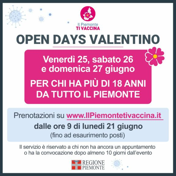 34.764 le persone vaccinate ieri in Piemonte