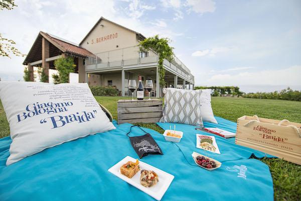Al Braida Wine Resort di Rocchetta Tanaro picnic e aperitivi vista vigna