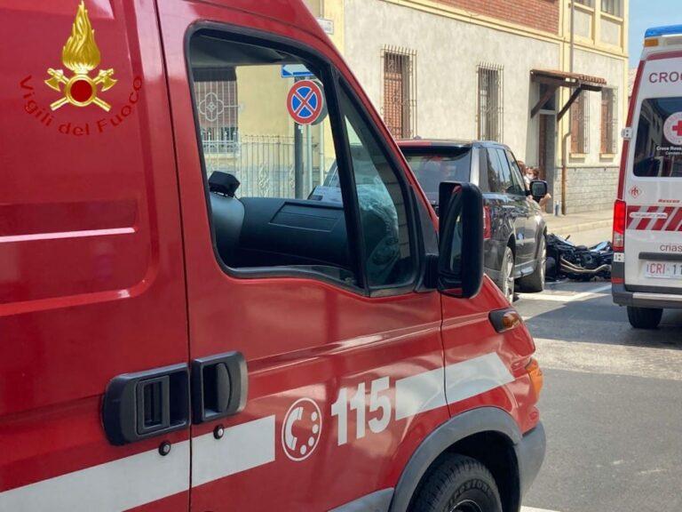 Asti, motociclista ferito in via Sant'Evasio