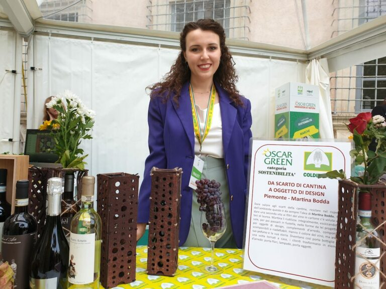 Da filtri del vino a oggetti di design: il progetto astigiano di Martina Bodda in agli Oscar Green
