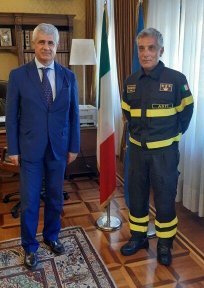 Asti, Giuseppe Calvelli nuovo comandante provinciale dei vigili del fuoco