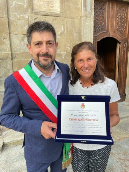 Roccaverano: cittadinanza onoraria alla dottoressa Gabriella Sala
