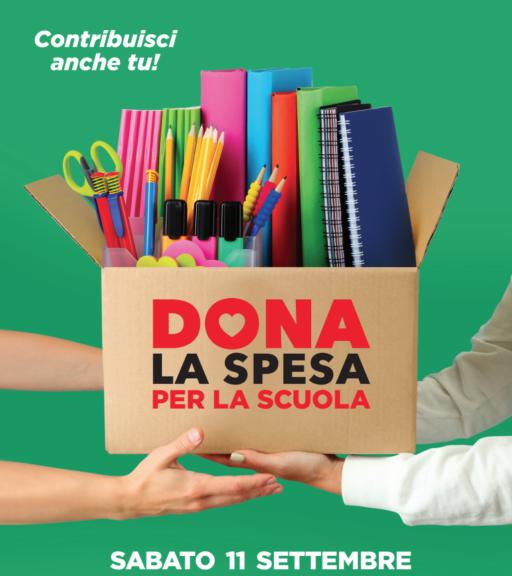 Torma Dona la spesa speciale scuole per i centri di ascolto di San Domenico Savio e San Pietro