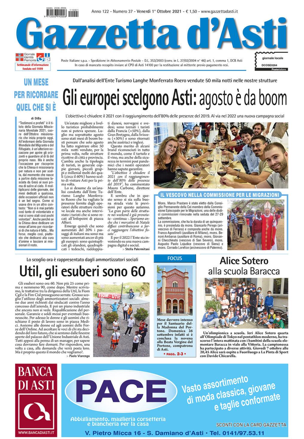 Prima pagina – 1° ottobre 2021