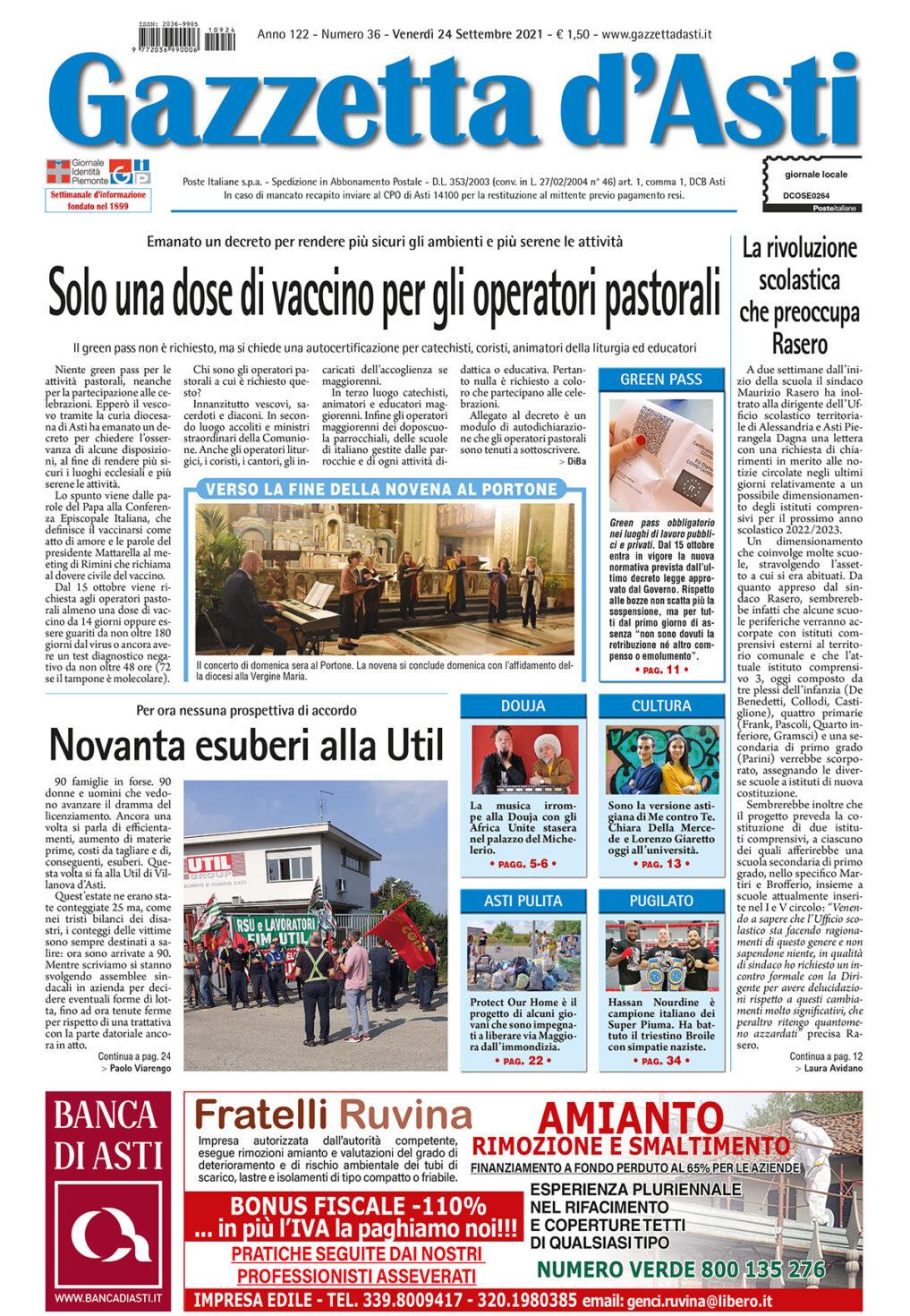 Prima pagina – 24 settembre 2021