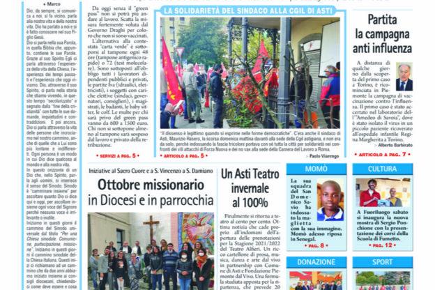 Prima pagina – 15 ottobre 2021