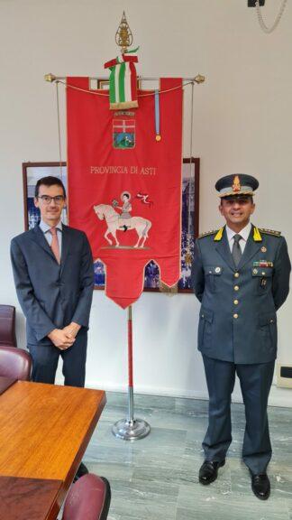 Il presidente Lanfranco incontra il nuovo comandante della Guardia di Finanza